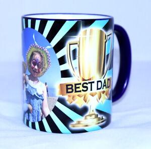Best Dad Award Personalised Photo Mug Coloured Rim & Handle