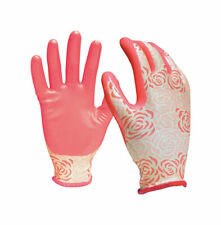 Digz  Pink  Women's  S/M  Nitrile  Gardening Gloves