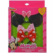 Disney Minnie Mouse Sparkling Ears w/Interchangeable Bow Headband for Hair