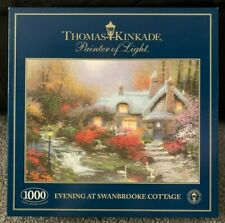 Thomas Kinkade 'Evening at Swanbrook Cottage' 1000 Piece Jigsaw Contents Sealed!