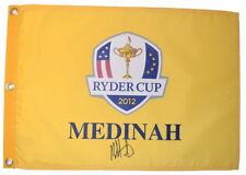 2012 RYDER CUP (Medinah) - BUBBA WATSON - SIGNED Screen Print GOLF FLAG
