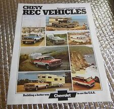 1974 Chevrolet Factory Dealers sale brochure Catalog Chevy Rec Vehicles campers