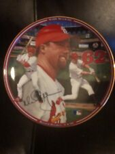 "1998 Mark McGwire ""Record Breaker"" Autographed Collector Plate With COA"