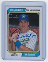 2020 BREWERS Paul Molitor signed card Topps Archives #145 AUTO Autographed HOFer