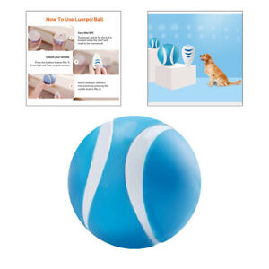 Remote Control Rolling Ball Pet Dog Interactive Toy LED Light Blue