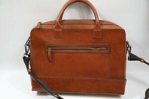 #239 Shinola Bedrock Harness Leather Men's Briefcase  RETAIL $895  NWOT