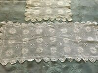 Two Beautiful Vintage Handmade Tablecloths