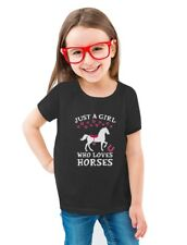 Just A Girl Who Love Horses Horse Lover Gift Toddler/Kids Girls' Fitted T-Shirt