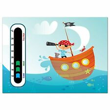 Baby Safe Ideas Pirate Nursery Room Thermometer - Easy Read
