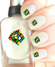 Rubiks Cube - Nail Art Decal Stickers, easy to use on any colour nail.88