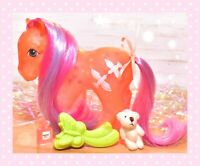 ❤️My Little Pony MLP G1 Vtg 1987 Brightglow Bright Glow Glow 'n Show & Brush❤️
