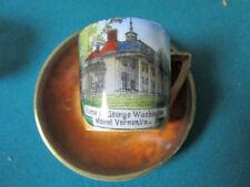 "Altenburg Germany souvenir coffee cup & saucer ""Home of George Washington""[16*]"
