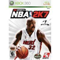 NBA 2K7 For Xbox 360 Basketball Very Good 1E