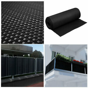 Artificial Rattan Weave Privacy Screening Balcony Fence Garden 1m x 1m Black