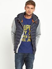 Camisa Sudadera con capucha para hombre híbrido de Tormenta Azul Marino/Gris Jaspeado XXL