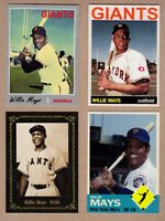 Willie Mays lot of 4: Rookie year/MVP season/Trenton minors/NY Mets 🔥