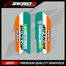 KTM SX 85 2013 - 2019 LOWER FORK DECALS MOTOCROSS MX GRAPHICS MOTOREX ORANGE
