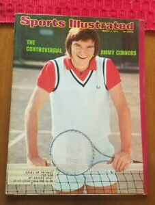 Sports Illustrated Controversial Jimmy Connors March 4 1974 label Free Shipping!