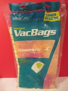 Ultra Care VACBAGS Kenmore C No. 50558 Ultra Allergen Filtration Package of 4