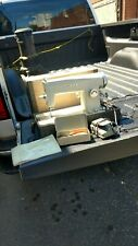 White Model 65 JA15 sewing machine Straight Stitcher w foot pedal  case hardware