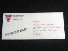 Michael Jordan Chicago Bulls News Release Team Envelope Addressed to Michael