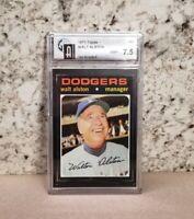 Graded 7.5 NM+ 1971 Topps Walt Alston Dodgers Manager #567 GAI