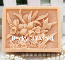 1pcs Small wildflowers (zx180) Silicone Handmade Soap Mold Crafts DIY Mould