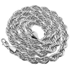 "Rope Chain 10mm Thick 30"" Inch  Long Silver Platinum Tone Twisted Heavy Dookie"