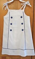 New W/Tags ~ Bella Bliss White With Navy Trim Gigi Dress ~ Size 18 Month