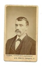 Antique Photo - Mustached Man - People's Gallery -  Springfield, Ohio
