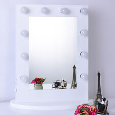 White Hollywood Makeup Mirror with lights Vanity Lighted Beauty Theatre Mirror