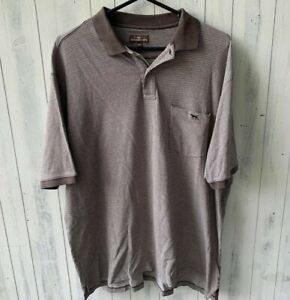 Rodd and Gunn Mens Brown Polo Shirt Size 3XL 100% Cotton