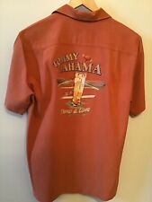 Men's TOMMY BAHAMA 'Third & Long' Embroidered Short Sleeve Silk Shirt Size S