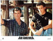 AIR AMERICA, original 1990 mint best Lobby Card, Mel GIBSON, Robert DOWNEY, Jr.