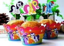 12 x Cupcake Cup Cake Decorating,Topper Wrappers PARTY DECORATION,My little Pony