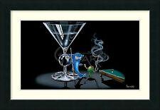 """Michael Godard, """" Pool Shark"""", Framed Art 39x29"""