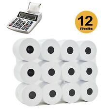 (12 ROLLS) 2 1/4 x 150   Adding Machine/Calculator Roll  1-ply Bond Paper Rolls