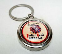 IROQUOIS Beer Can / Bottle Cap Opener Key Chain / Key Ring Handmade