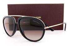 Brand New Tom Ford Sunglasses FT 452 Stacy 02T Black Gold/Brown Gradient Men