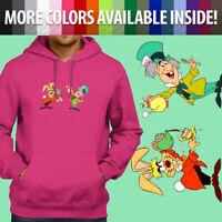 Alice Wonderland Disney Mad Hatter March Hare Pullover Sweatshirt Hoodie Sweater