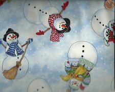 Snow Magic snowmen winter Christmas South Seas fabric