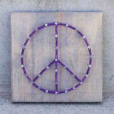 Peace Sign String Art | Wood Sign | Gift | Handmade | Home Decor | Wall Art