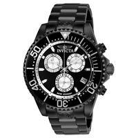 Invicta 26852 Pro Diver Men's 47mm Chronograph Black-Tone Steel Black Dial