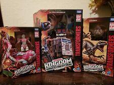 Transformers Kingdom Beast Wars Ultra Magnus Dinobot Arcee lot in hand nib