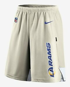 Brand New 2021 NFL Nike Los Angeles Rams Player Performance Training Shorts NWT