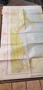 "VINTAGE RARE 1941 SECTIONAL AERONAUTICAL CHART MAP LAKE SUPERIOR, MI 41"" X 24"""
