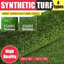 10/20 SQM Artificial Grass Synthetic Turf Plastic Plant Lawn Flooring Green AU