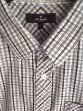 Jeff Banks size Large  men's short sleeved check shirt