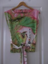 MATERIA: BELTED FLORAL PASTEL TOP / BLOUSE – SZ S or M