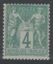 "FRANCE STAMP TIMBRE N° 63 "" TYPE SAGE 4 c VERT 1876 "" NEUF xx TTB   N956"